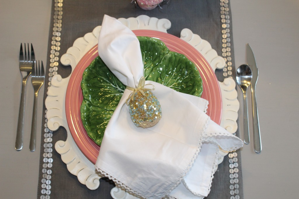 styling an Easter place setting