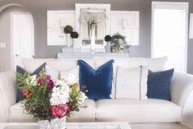 styling sofa with pillows