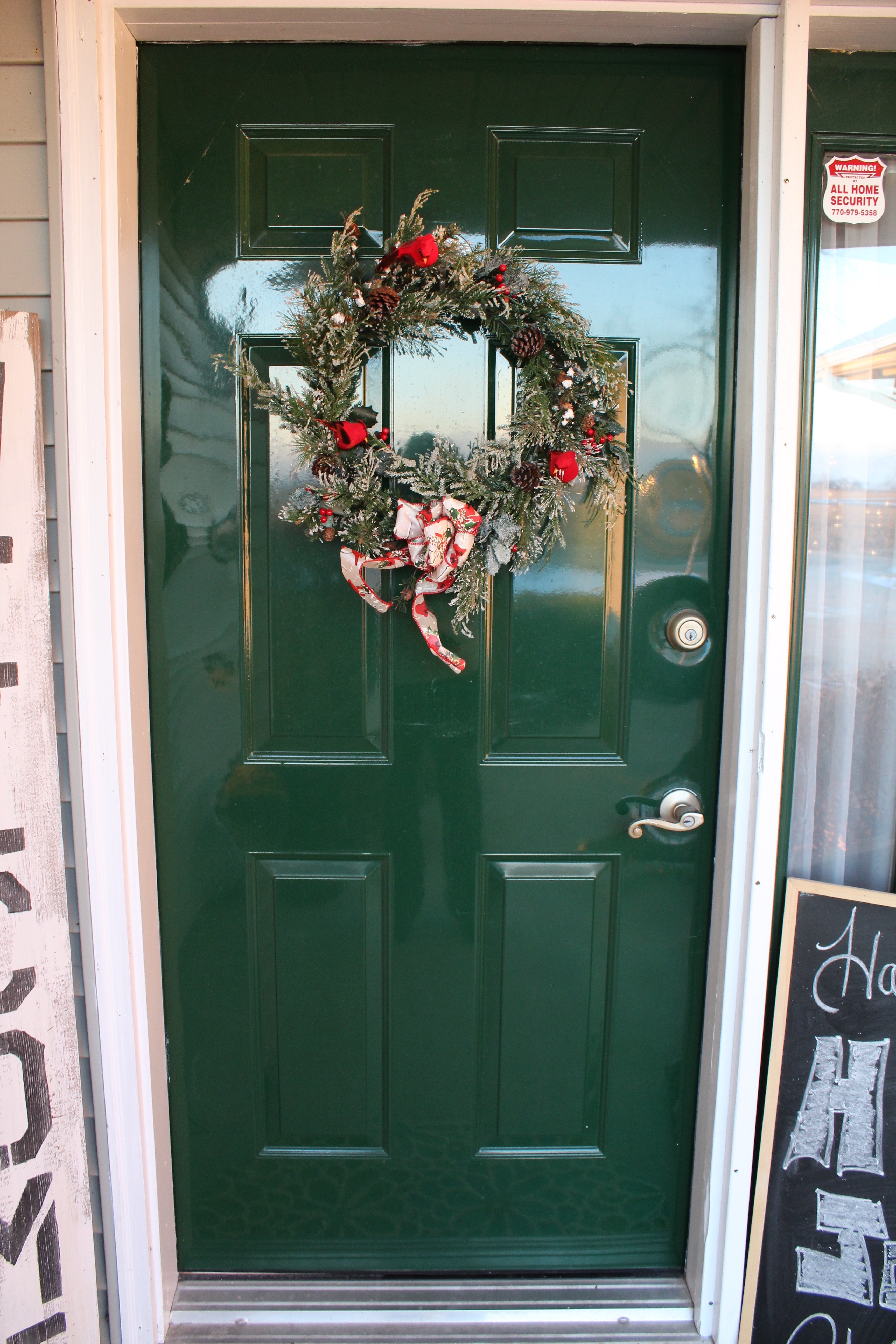 christmas front door clipart. This Past Winter, I Entered A Contest Introduced By DecoArt.com. Had To Submit Photo Of Our Front Door, And They Would Choose Select Number Entries Christmas Door Clipart