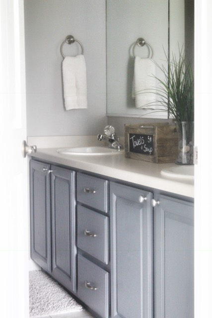 painted cabinets in master bath