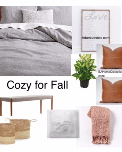 Cozy Bedroom Mood Board for Fall