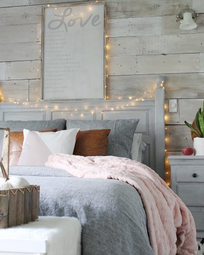 Cozy Bedroom Reveal and a Chalk Painted Pillow