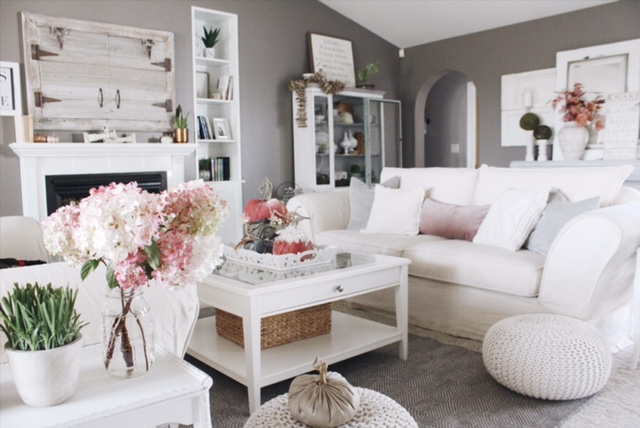 Fall living room styling