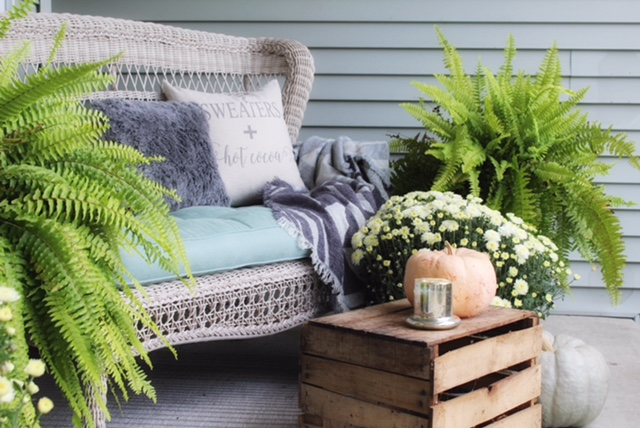 front porch styling for small entry