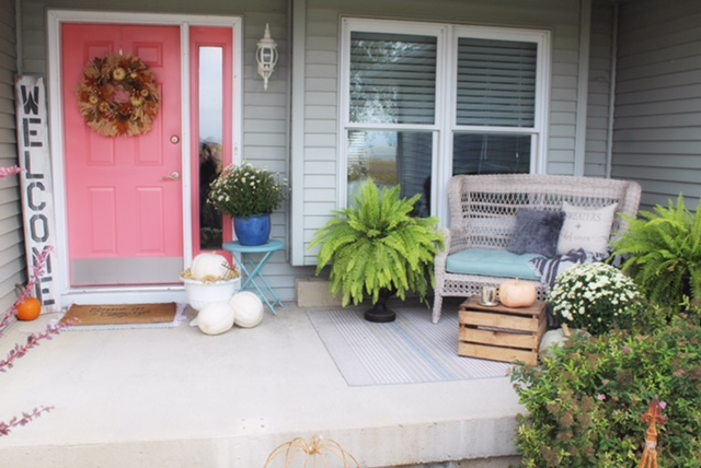 front porch styling for fall
