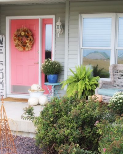 Front Porch Styling in a Small Space