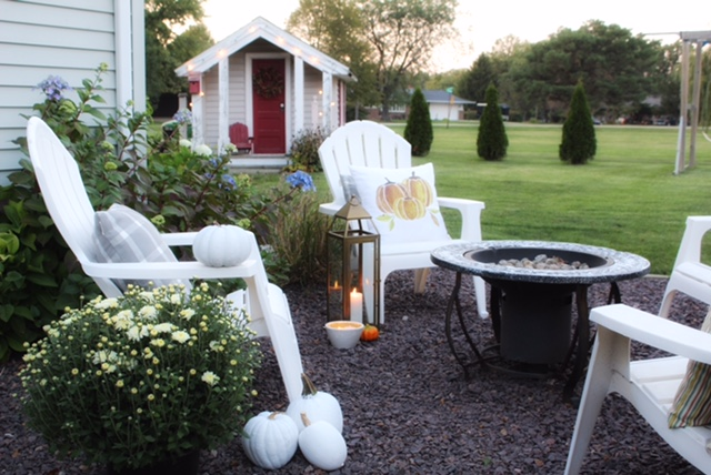 cozy outside entertaining