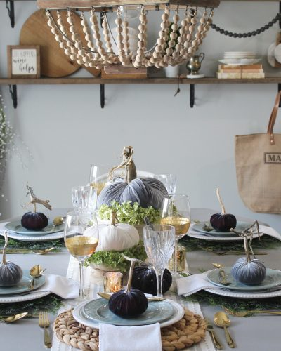 Velvet Pumpkins Are Made For This Fall Tablescape