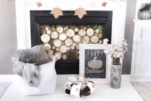 fall mantle decor hearth
