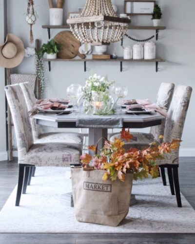 Thanksgiving Tablescape Using Natural Elements