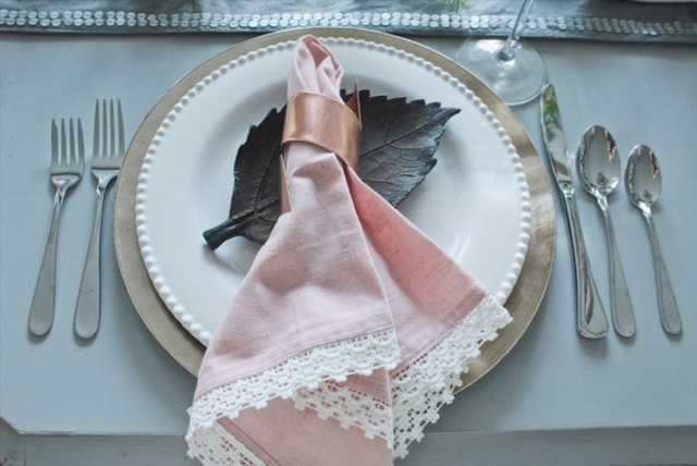 Thanksgiving tablescape and copper napkin ring