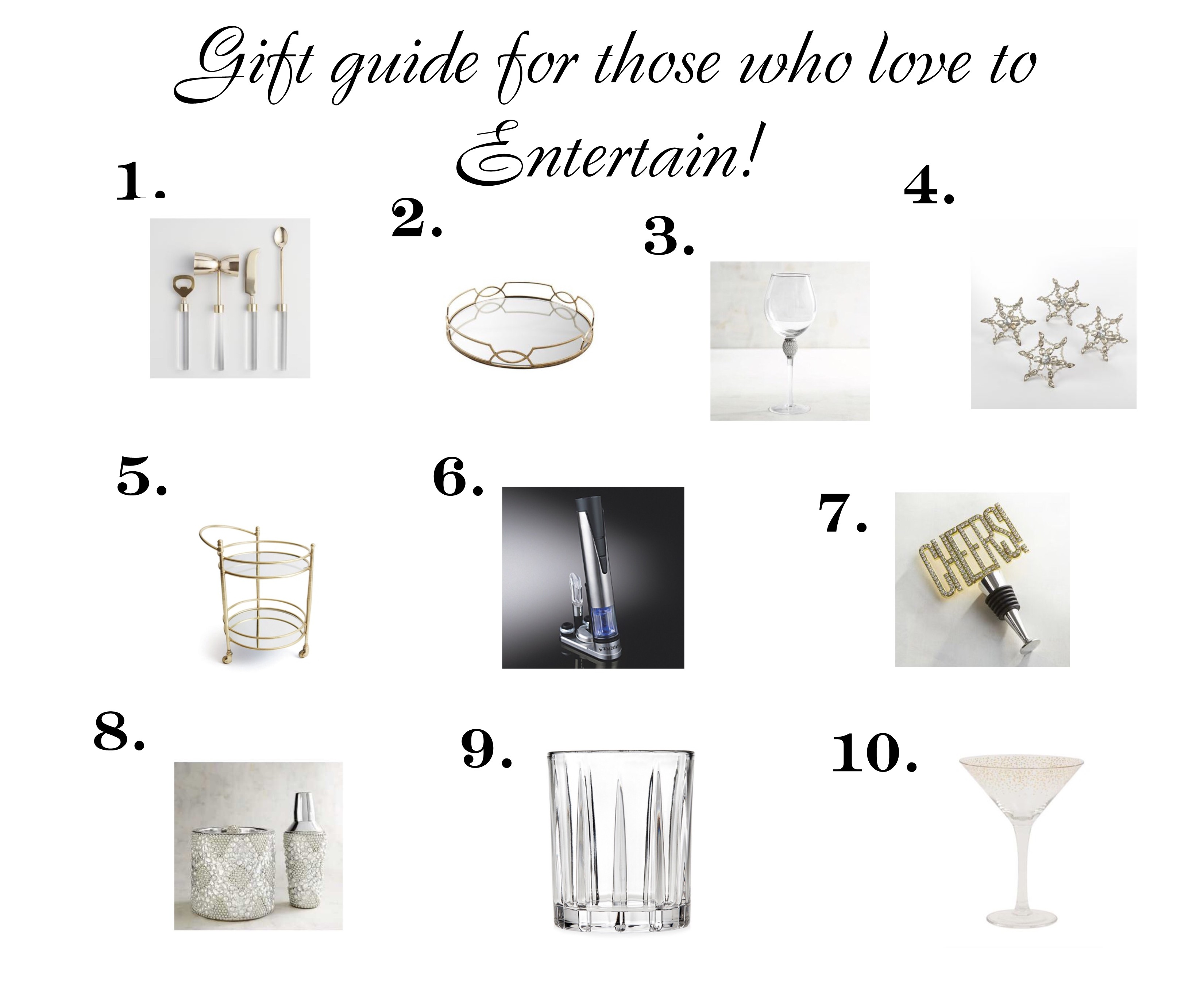 gift guide for those who love to entertain