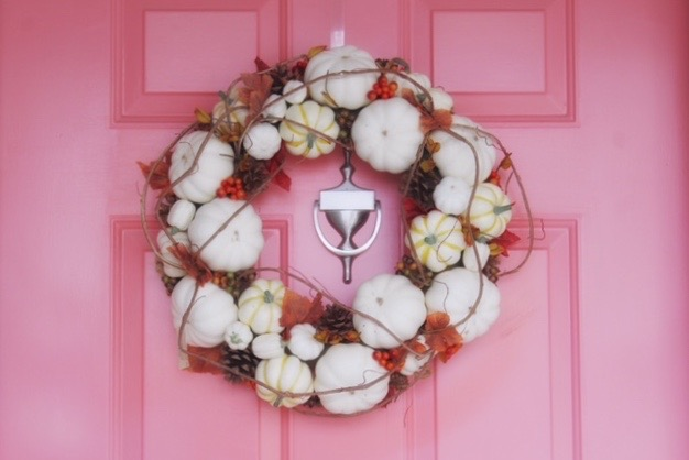 front door wreath from Birch Lane