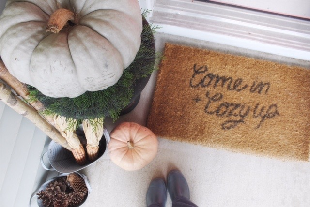 Welcome mat - Come in and cozy up