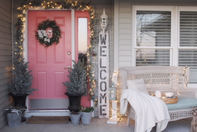 Charming Christmas porch decor from Birch Lane