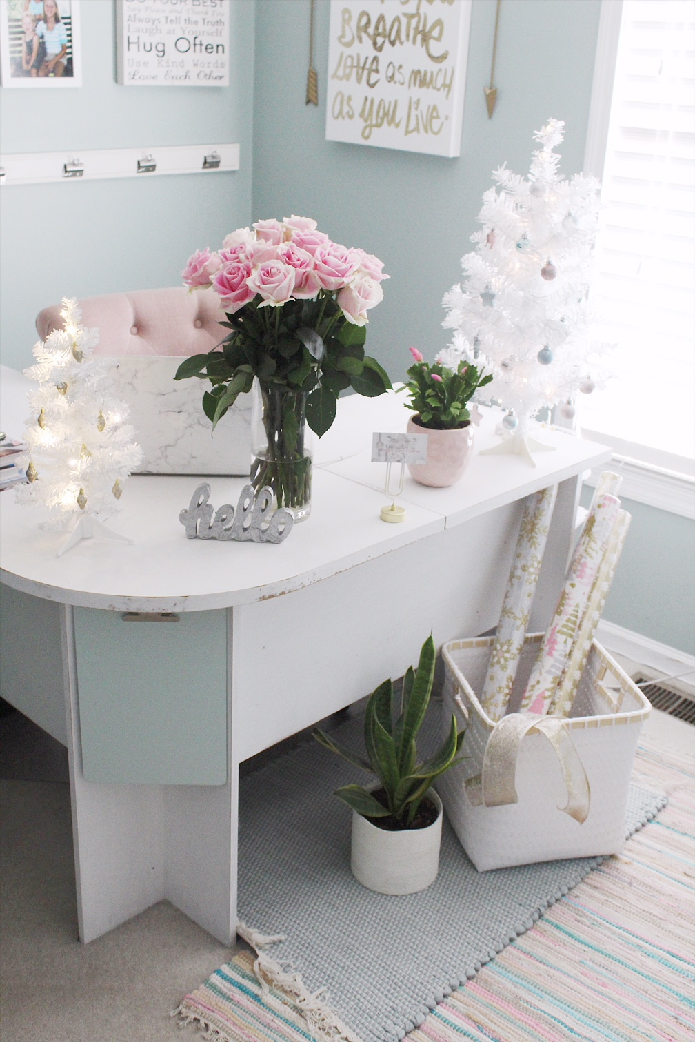 Christmas decor for small office space