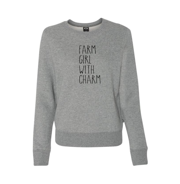 Farm Girl With Charm Crewneck
