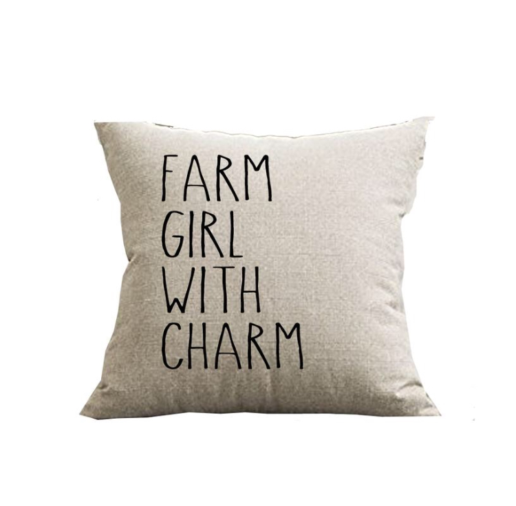 Farm Girl With Charm Pillow Cover 18x18