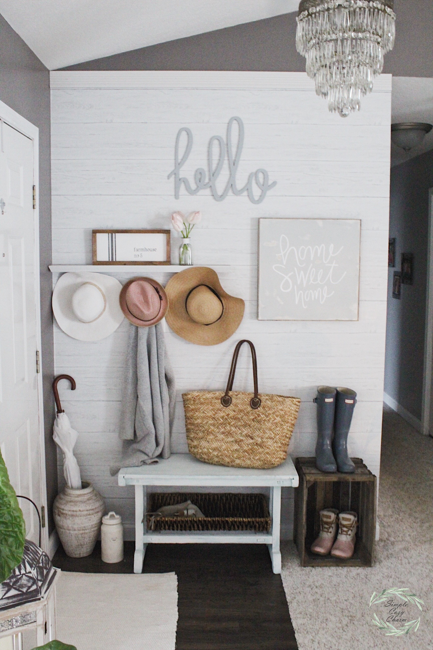 Farmhouse Bedroom Decor Final Bathroom Update 3 Small Entryway 2018 Spring  Refresh ...