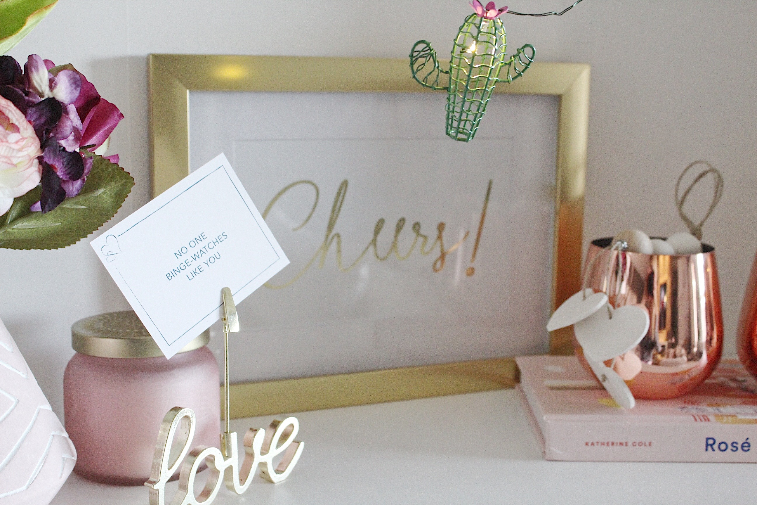 Simple Valentine's Day vignette