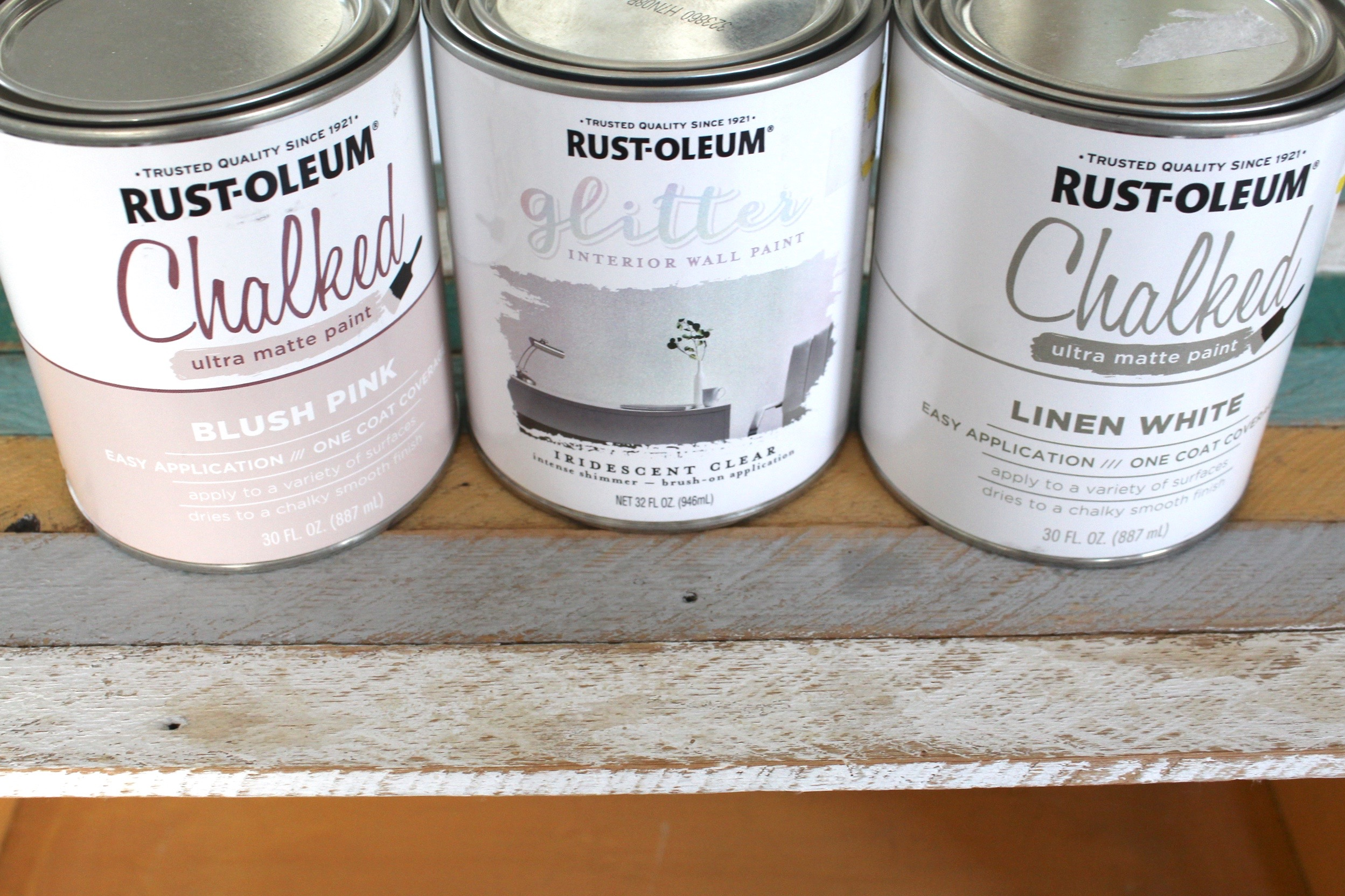 Rust-oleum chalk and glitter paints