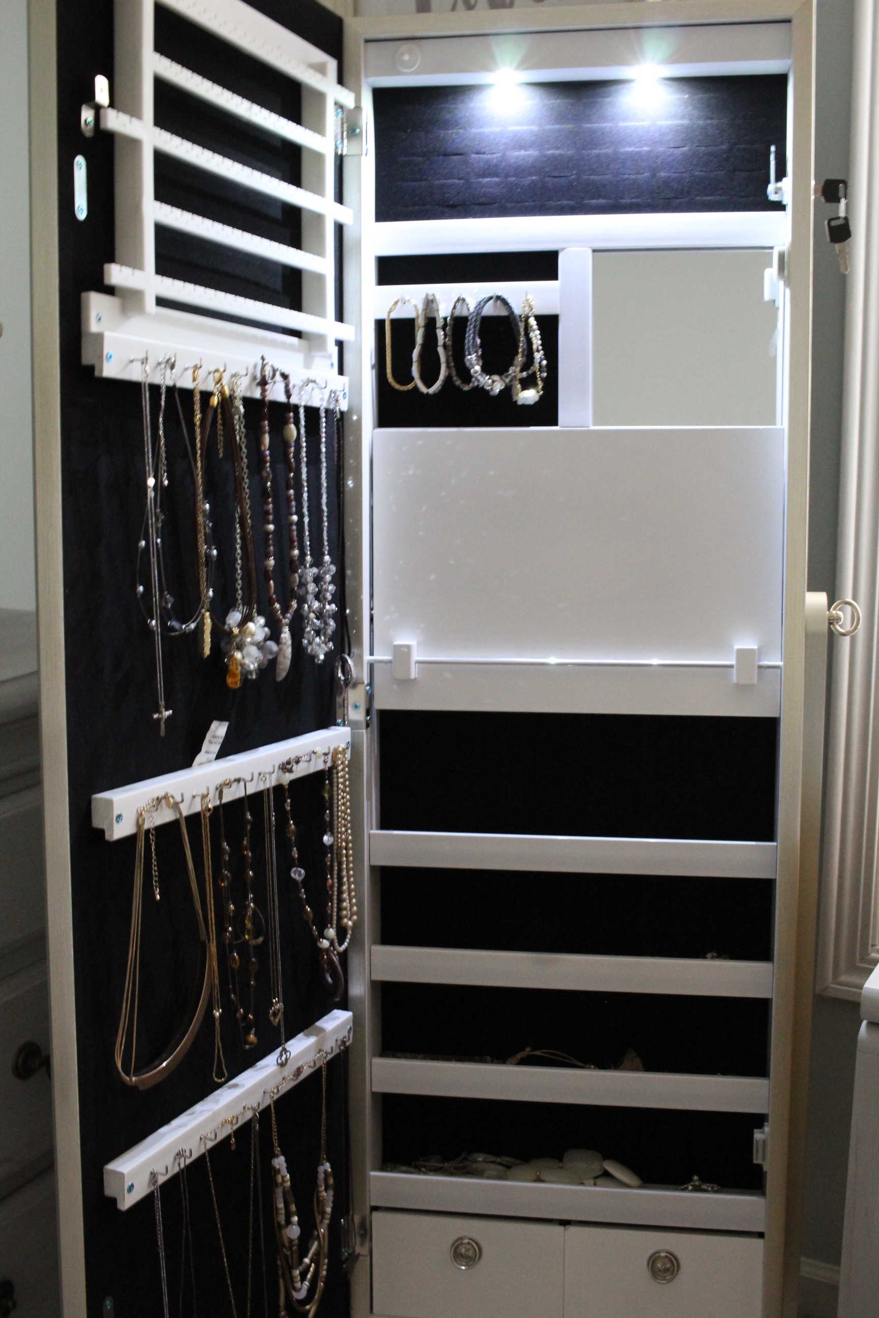 lighted jewelry armoire from Birch Lane