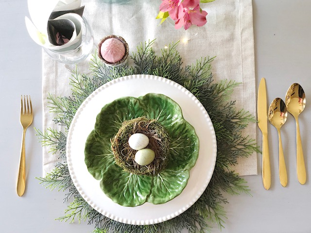 Spring and Easter Tablescape 3