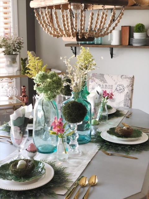 Spring and Easter tablescape 1