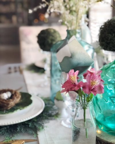 Early Spring and Easter Tablescape