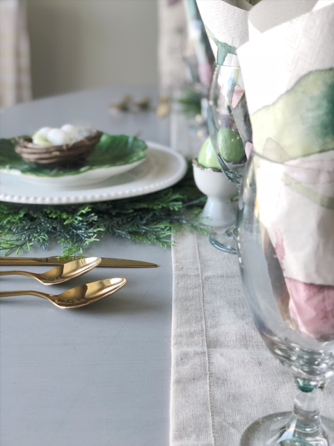 Spring and Easter tablescape 7