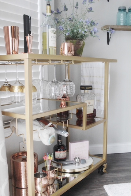 The Tibo Bar Cart from Birch Lane style with everyday decor