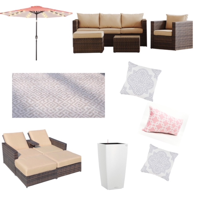 Option 3 with favorite outdoor items from Wayfair