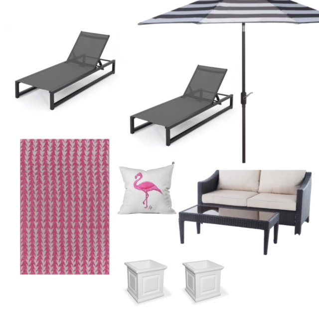 Mood board 2 with favorite outdoor items from Wayfair