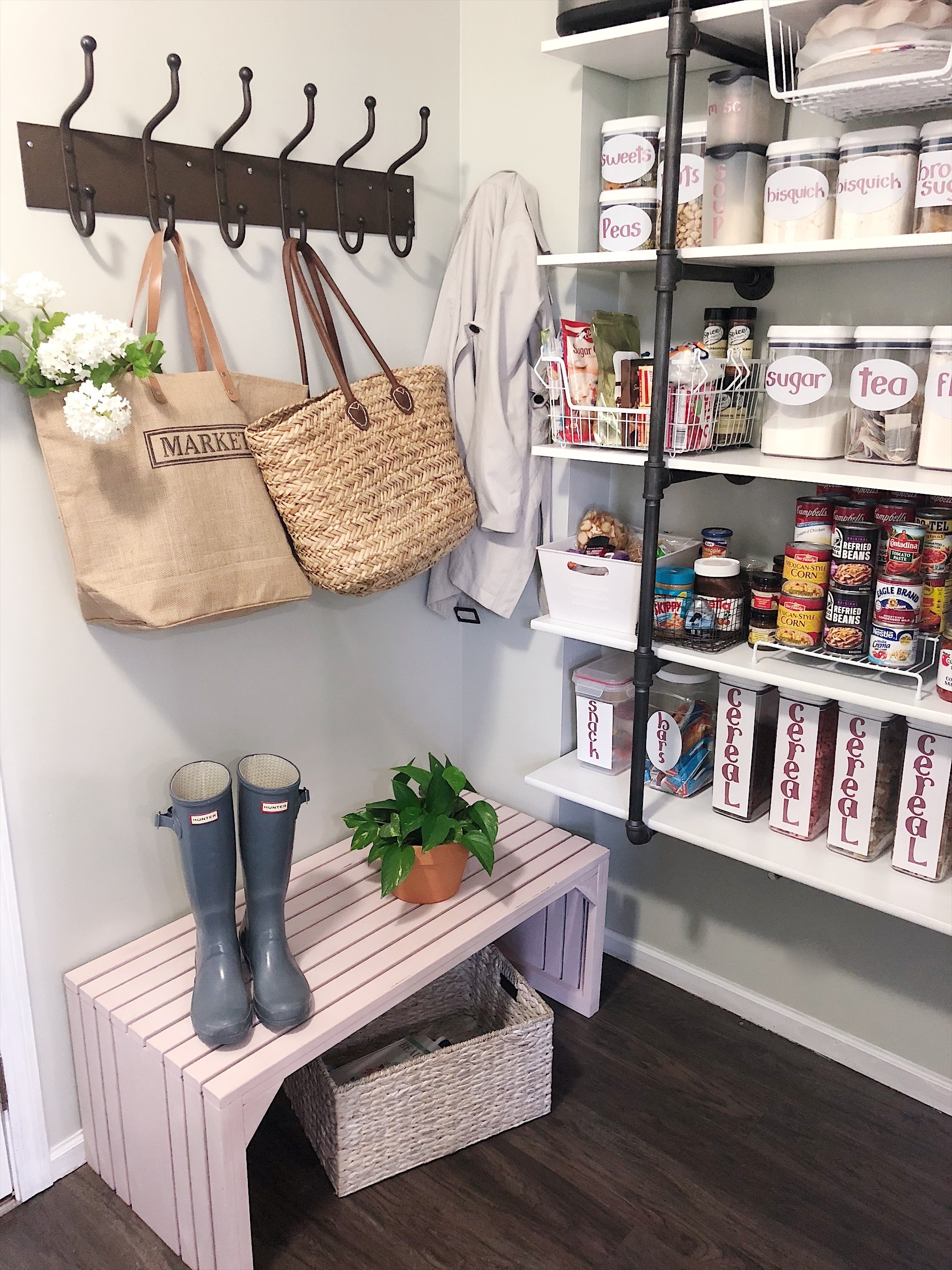 Pantry Organization made pretty!