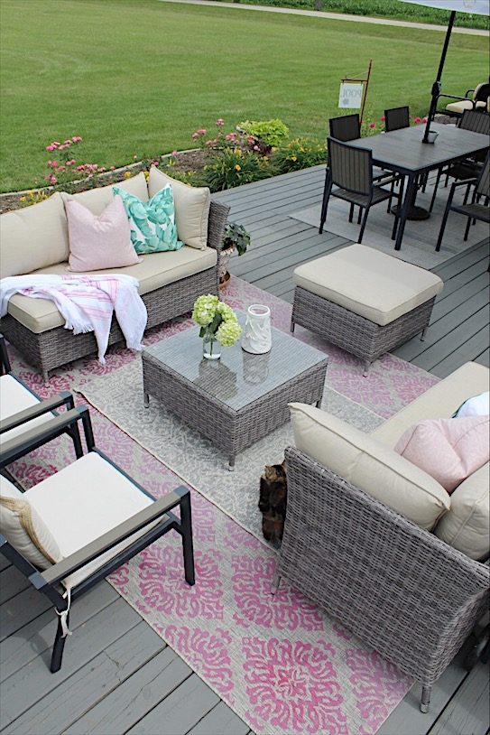 Cozy Deck Update with Multifunctional Sofa Set