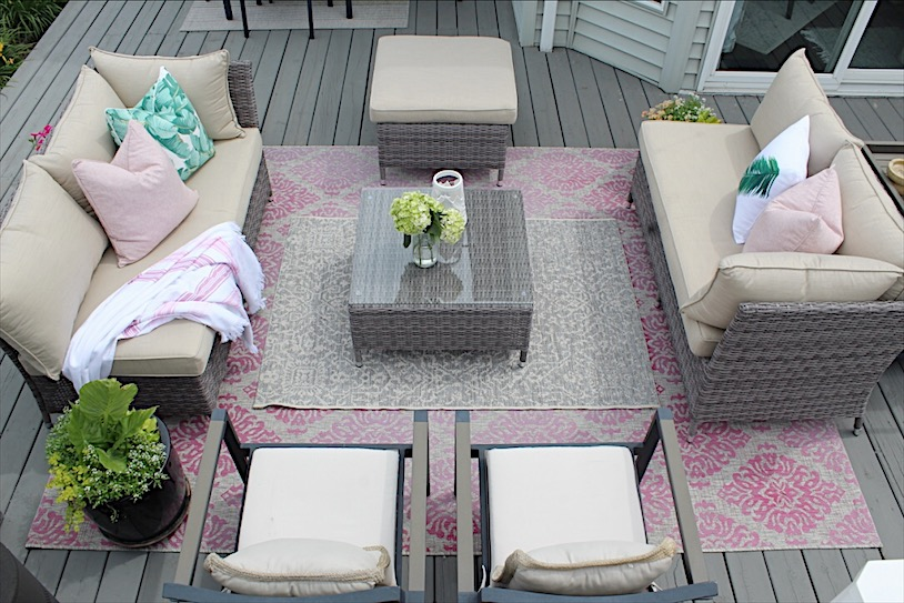 All ready for summer with our cozy deck update