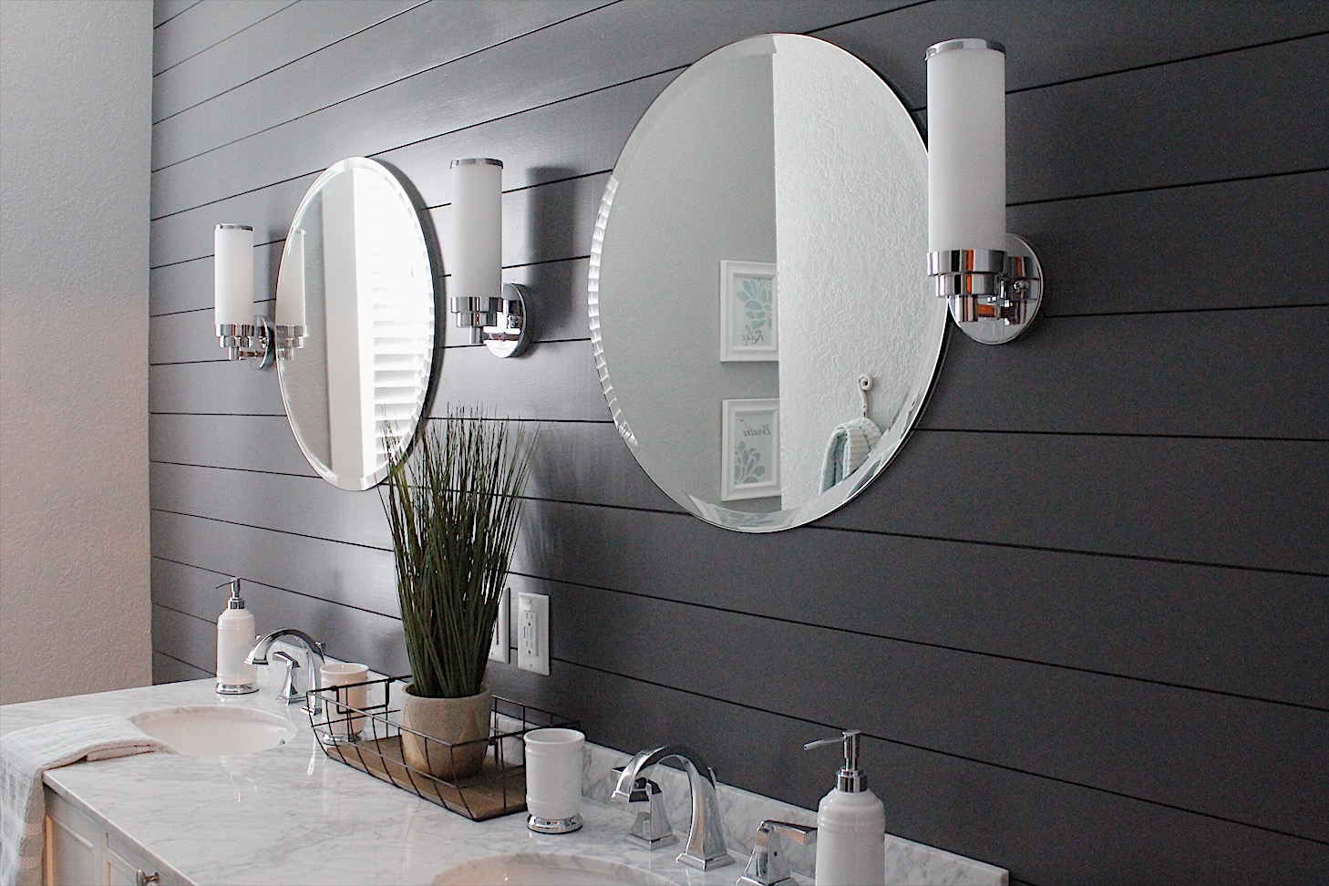 gorgeous bathroom remodel - moody and chic finishes