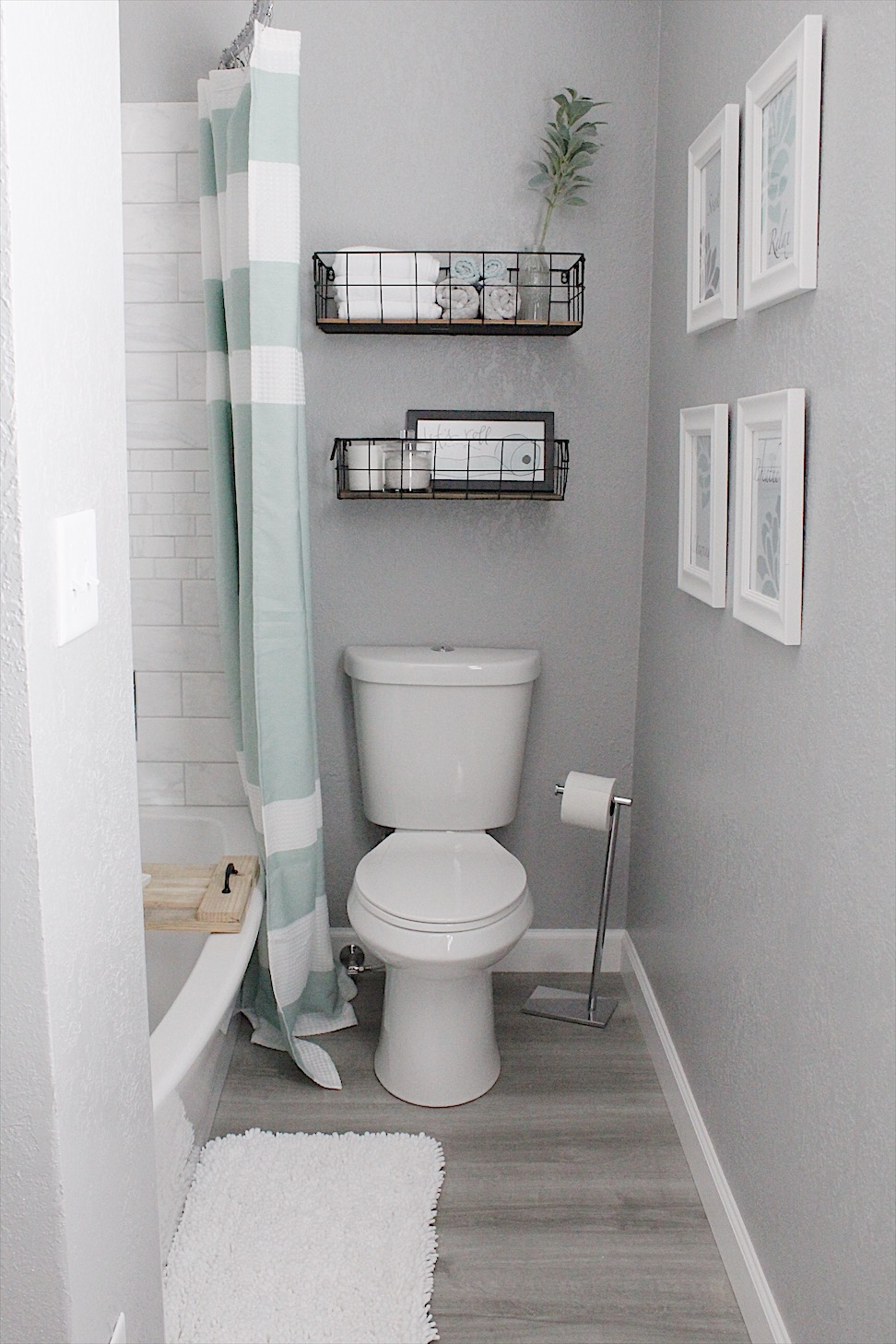 gorgeous bathroom remodel - small space styling