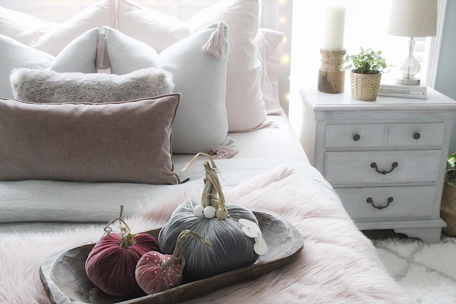 rich jewel tones - early fall bedroom decor