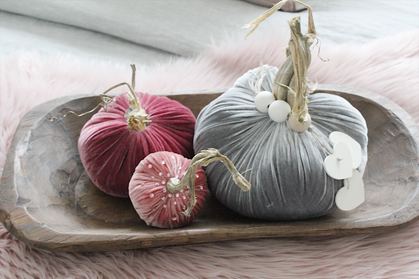 rich jewel tones - Hotskwash velvet pumpkins from Love Feast Shop