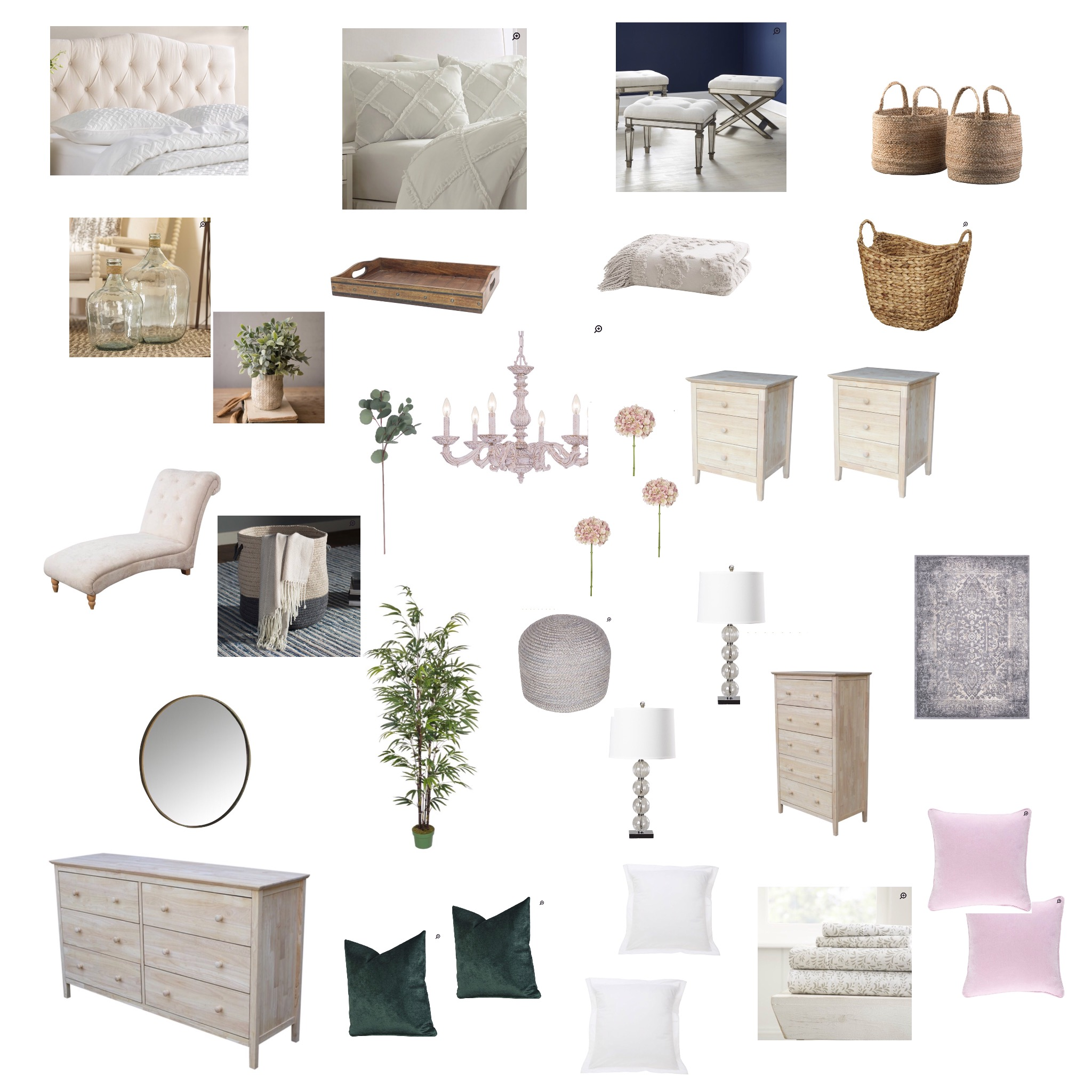new bedroom design - mood board