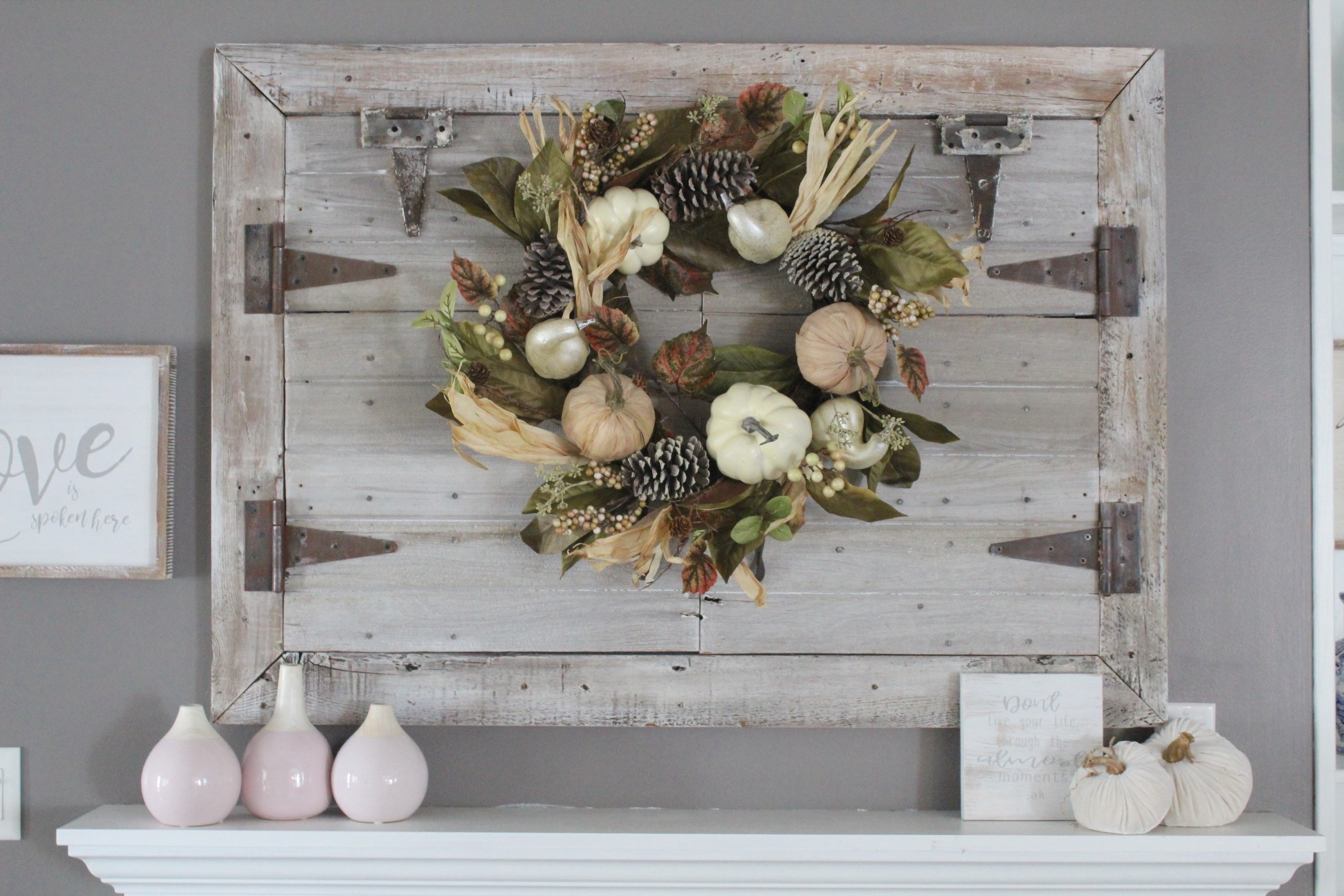 rich jewel tones - Fall wreath from Kirklands