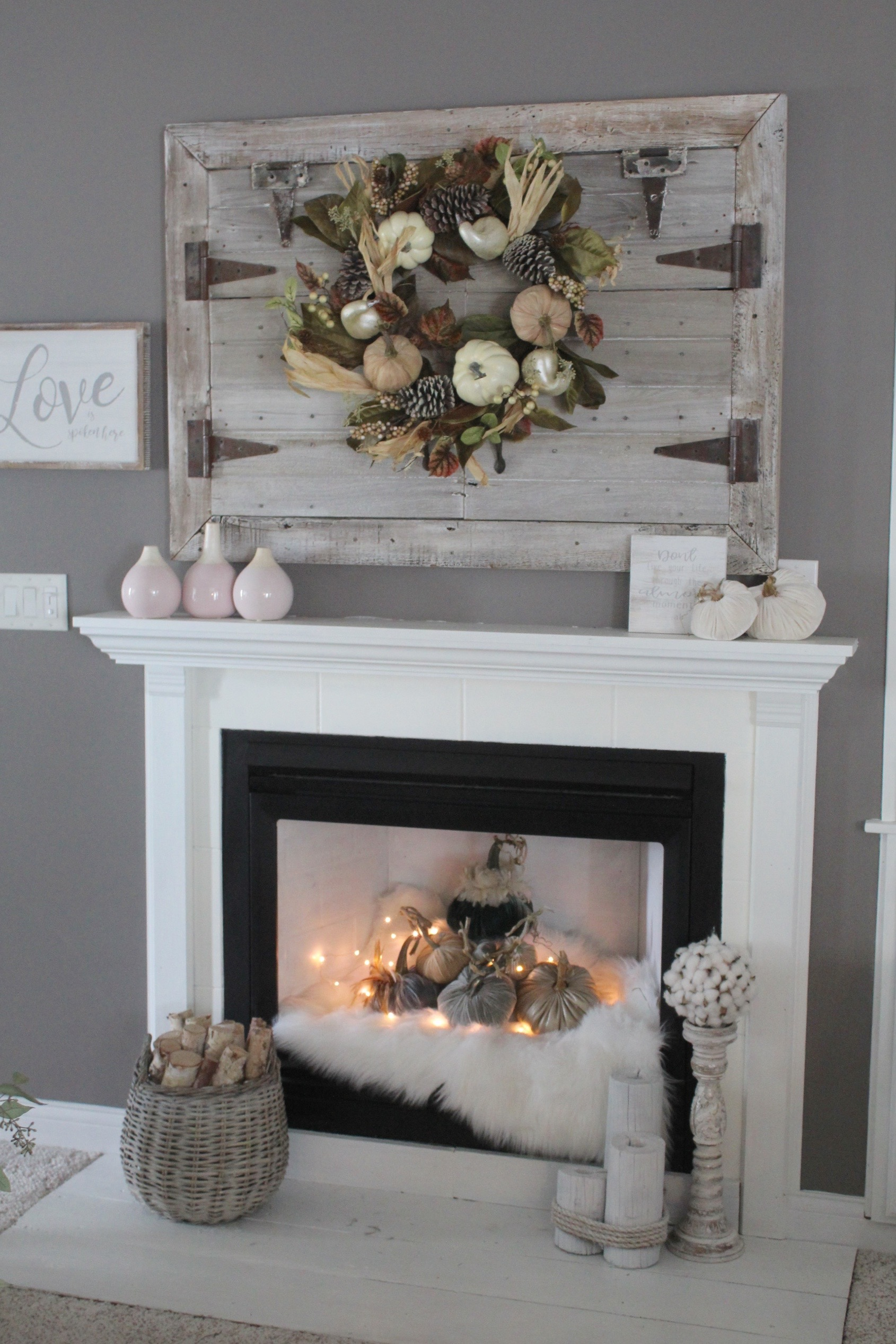 rich jewel tones - cozy fireplace