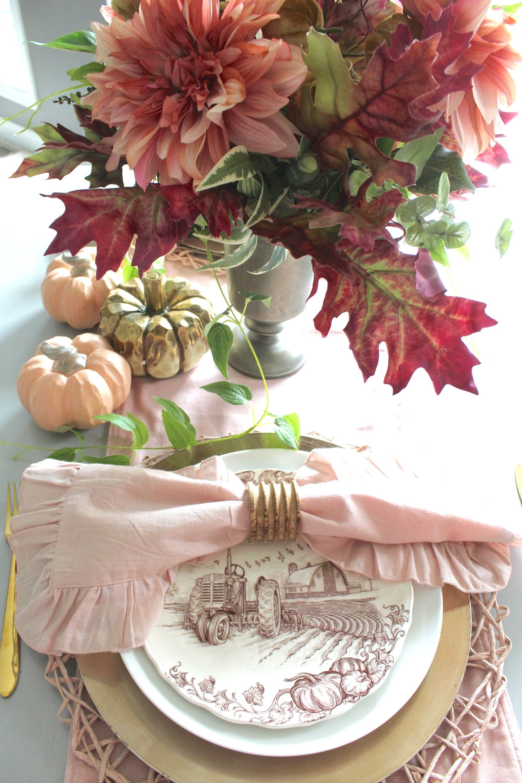 rich jewel tones - fall tablescape