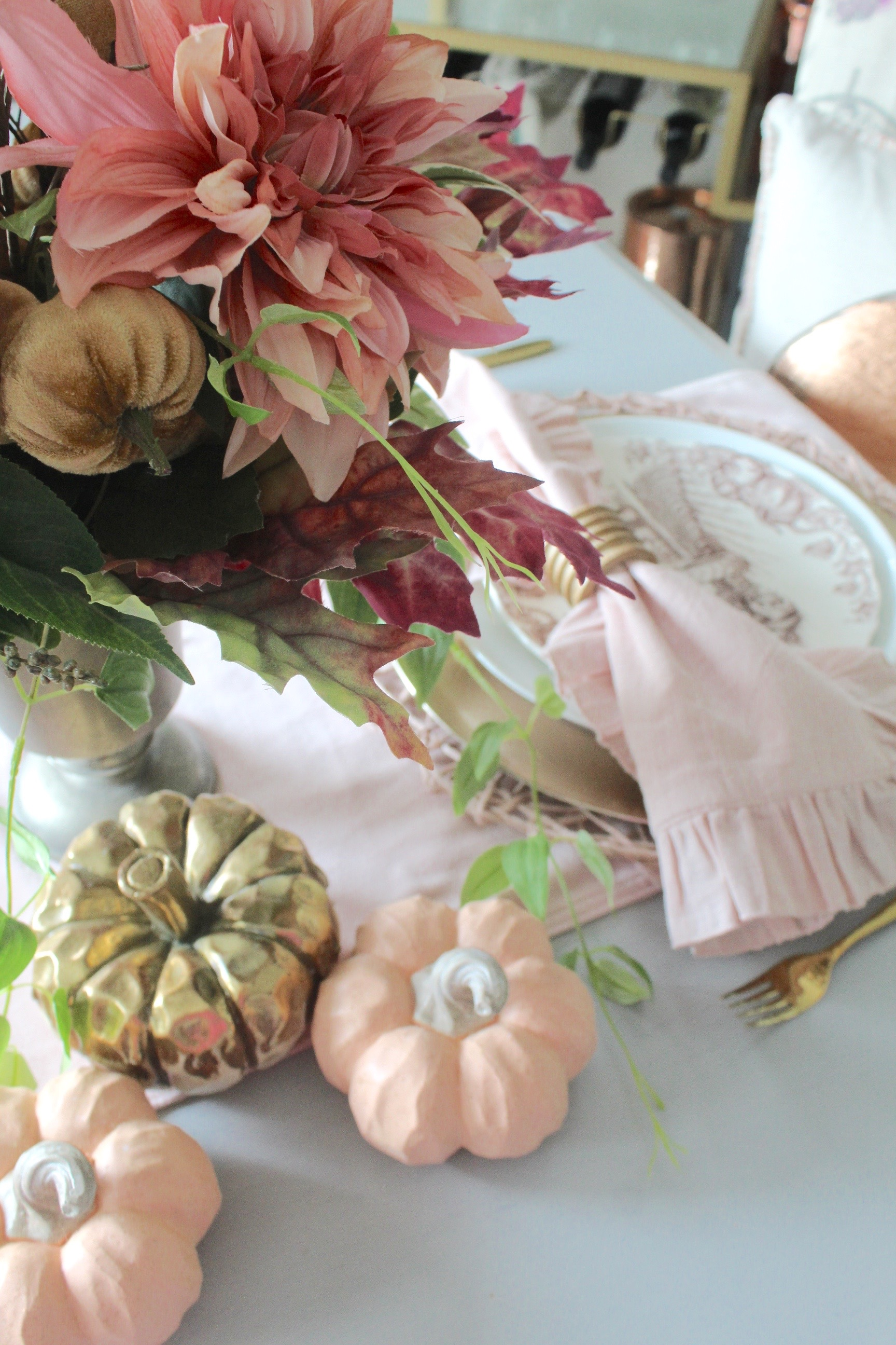 rich jewel tones - early fall tablescape