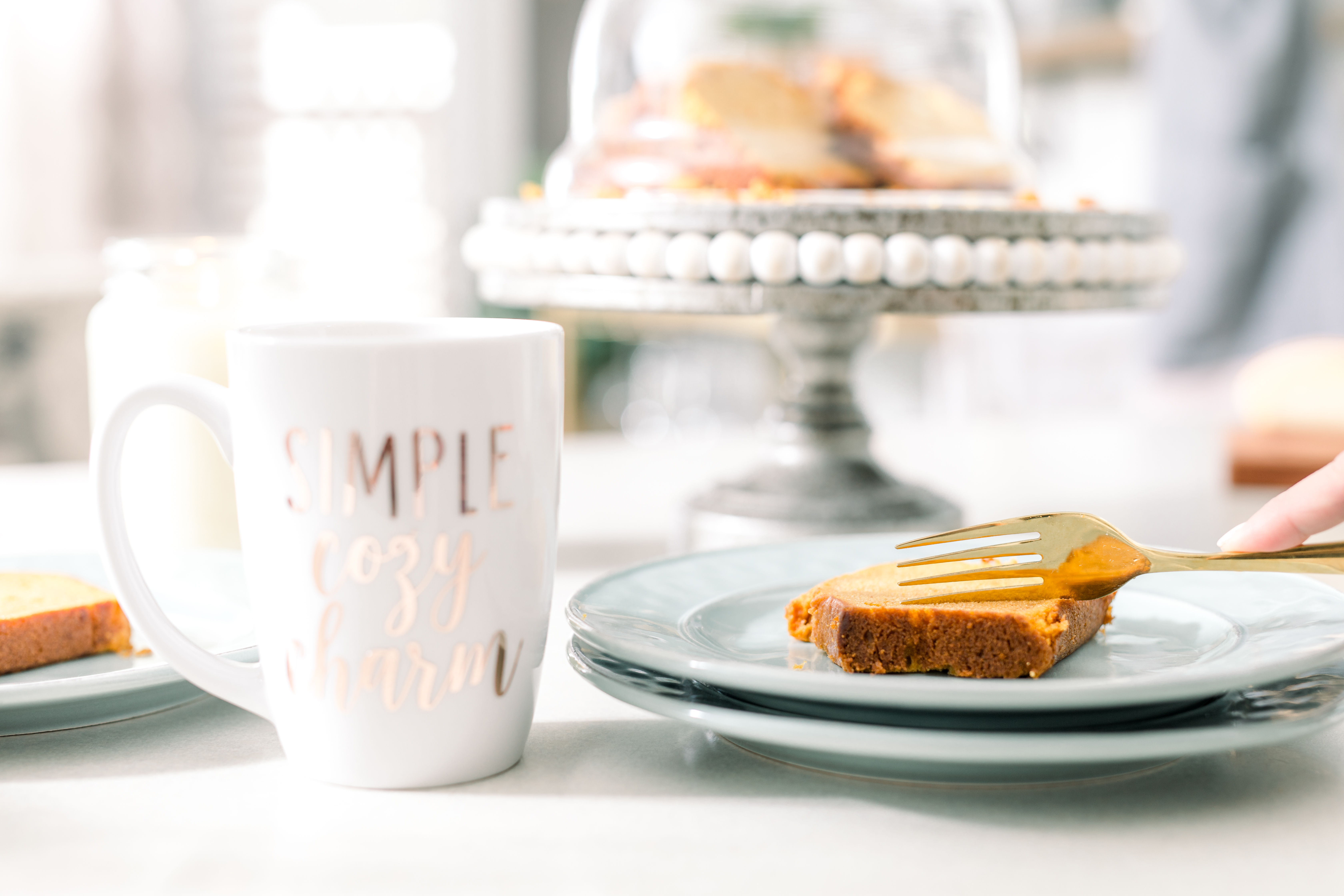pumpkin spice bread - perfect partner to your morning cup of jo