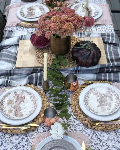 Early Outdoor Fall Tablescape