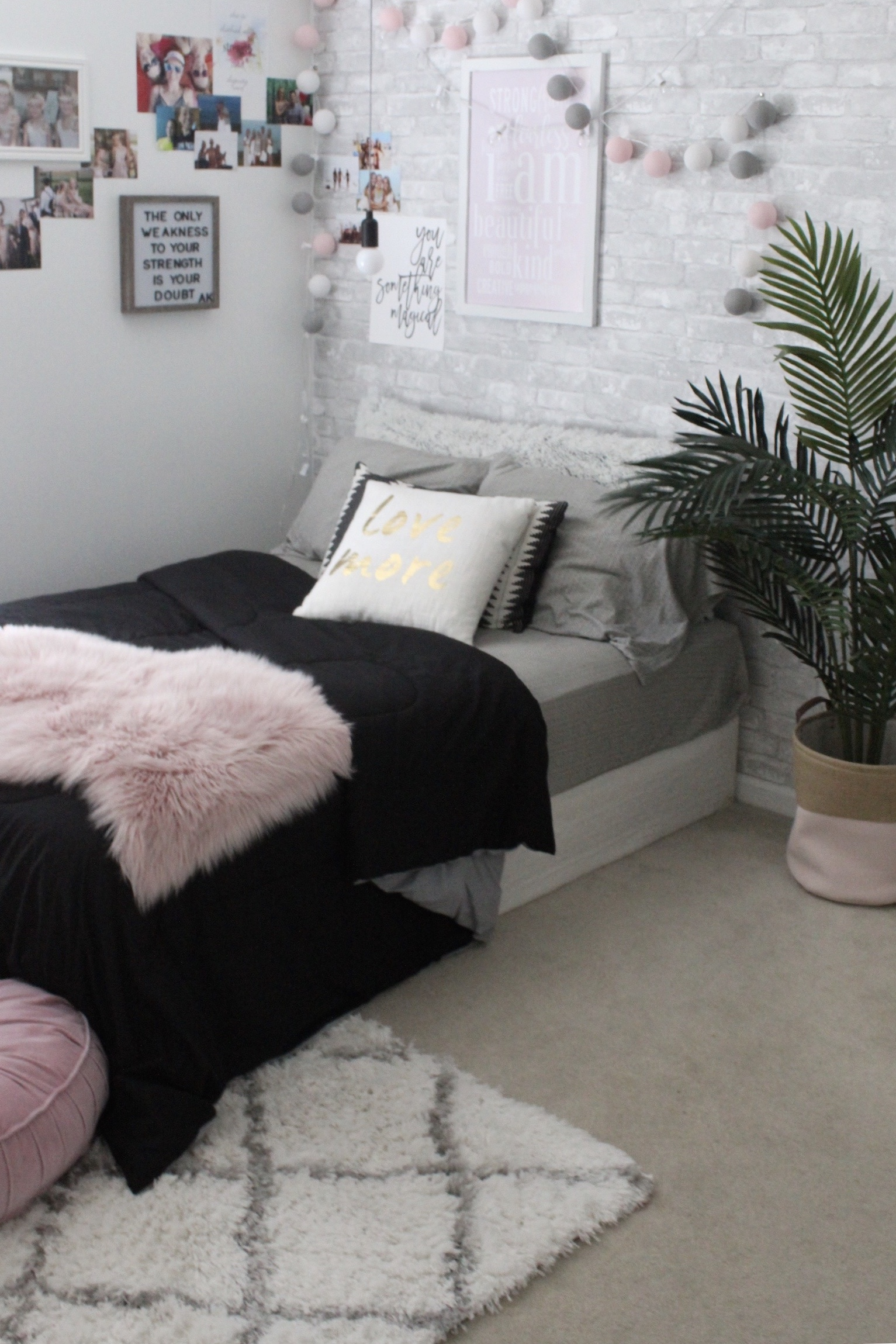 Teenage Bedroom Makeover College Dorm Inspo Simple Cozy Charm