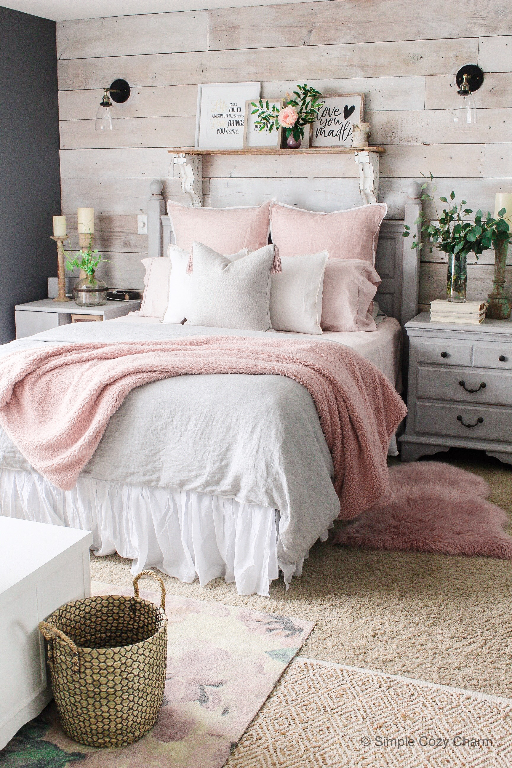 Mid-Winter Bedroom Facelift - Simple Cozy Charm on Basic Room Ideas  id=43296