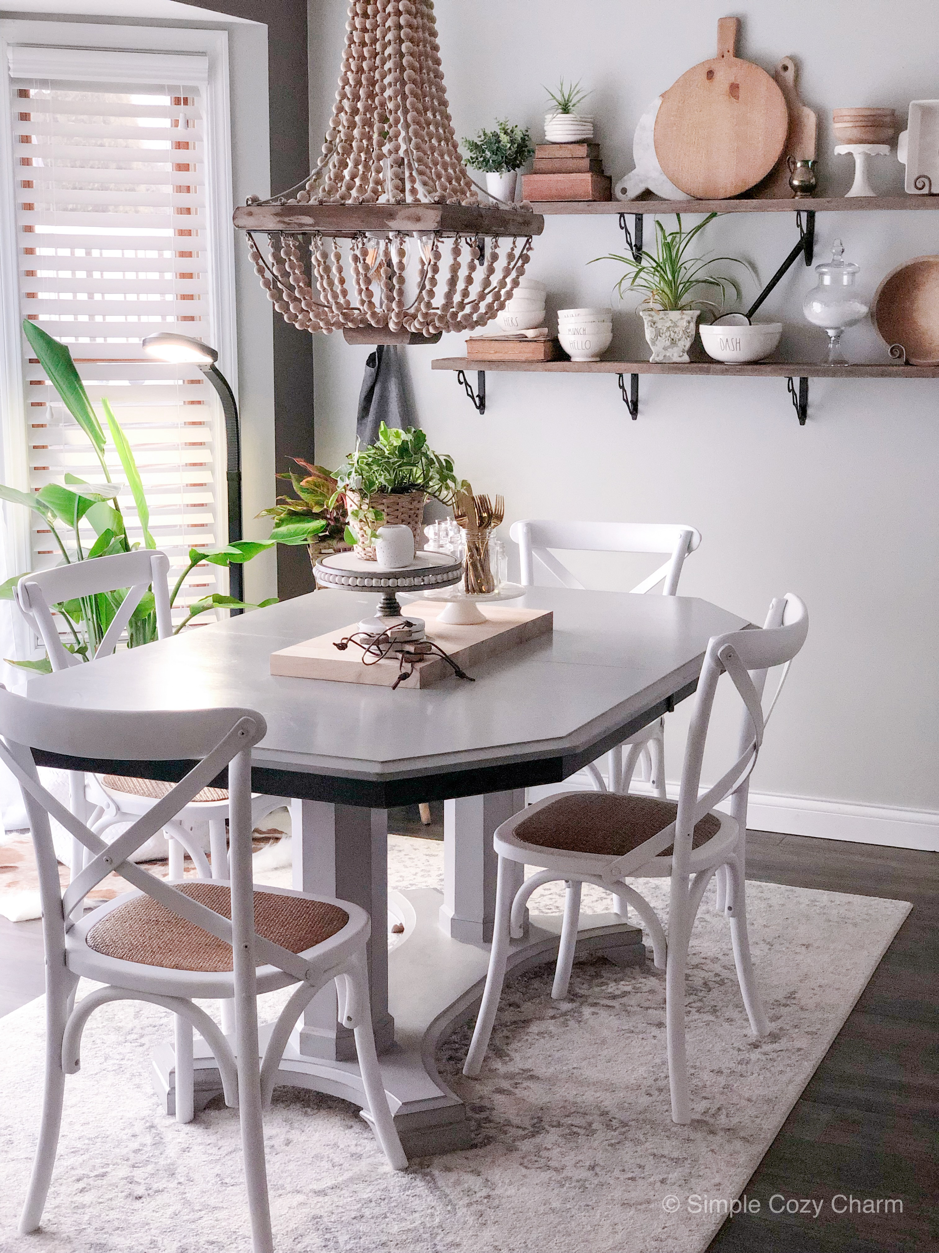Farmhouse chairs for the breakfast nook, finally!